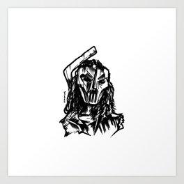 Hockey Mask Vigilante Art Print