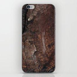 burned wood texture iPhone Skin