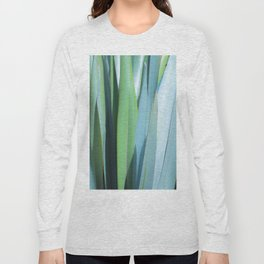 blue and green leaves Long Sleeve T-shirt