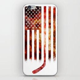 Ice Hockey USA Flag iPhone Skin