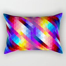 Abstract Colorful Decorative Squares Pattern Rectangular Pillow