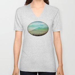 Watercolor Hills Unisex V-Neck