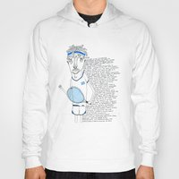 tennis Hoodies featuring Tennis by Andrea Forgacs