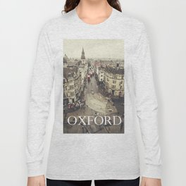 Red buses at Oxford Long Sleeve T-shirt