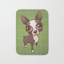 Zippy the Boston Terrier Bath Mat