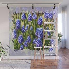 Grape hyacinths muscari Wall Mural
