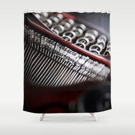 Typewriter Angled Shower Curtain