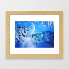Irish Wolfhound Guardian Framed Art Print