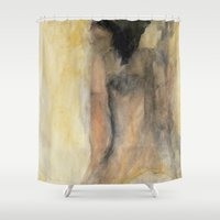 broadway Shower Curtains featuring broadway show night; sketch study by Imagery by dianna