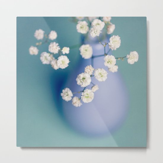 Try a little tenderness - Baby's Breath Metal Print