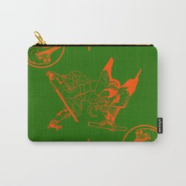 tengu green/orange Carry-All Pouch