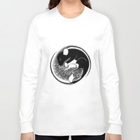 ying yang Long Sleeve T-shirts featuring Ying & Yang by Brittany Rae