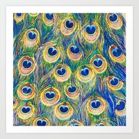 Peacock Freathers Art Print