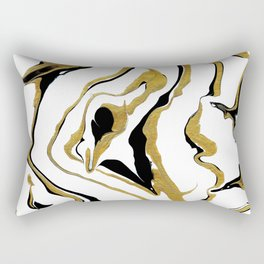 Gold And Black Opulence Rectangular Pillow
