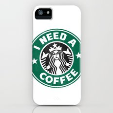 I need a coffee! iPhone (5, 5s) Slim Case