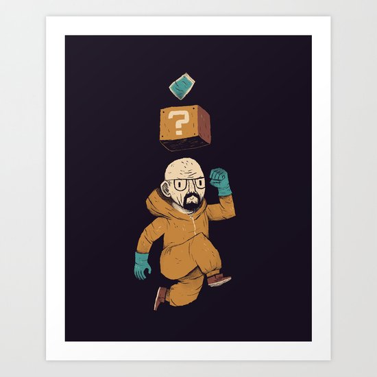 heisenberg power up Art Print