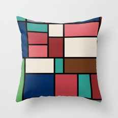 The Colors of / Mondrian Series - Spirited Away - Miyazaki Throw Pillow