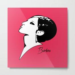 Barbra Streisand - Barbra - Pop Art Metal Print