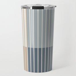 Color Block Line Abstract XVII Travel Mug