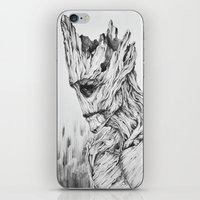 groot iPhone & iPod Skins featuring GROOT by Cuppy