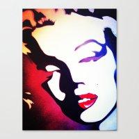 monroe Canvas Prints featuring monroe  by Joedunnz