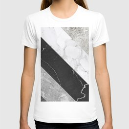 Contemporary Marble Stone Rays T-shirt