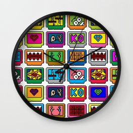 8-bit Game Cartridges Wall Clock