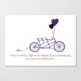 Tandem Bicycle Fairytale Canvas Print