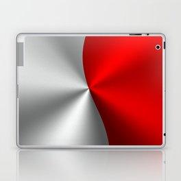 Metallic Red & Silver Geometric Design Laptop & iPad Skin