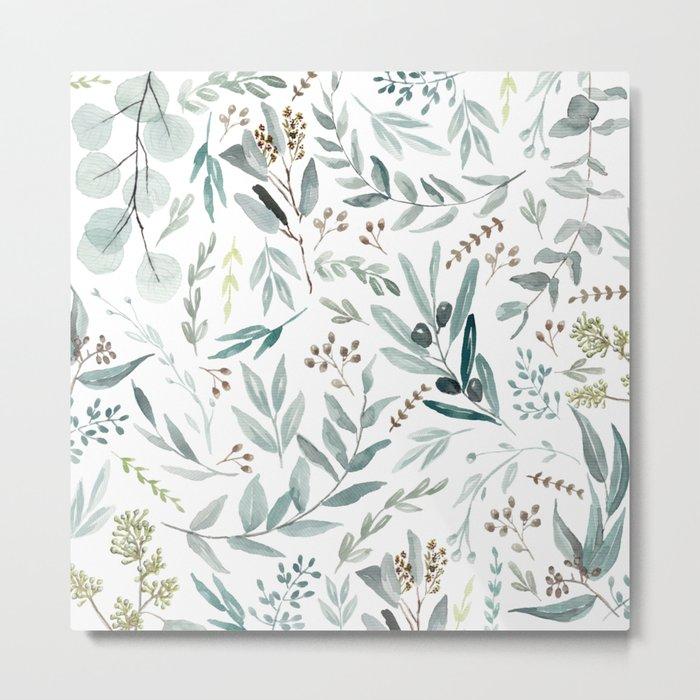 Eucalyptus pattern Metal Print
