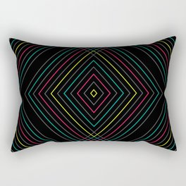 Neon Diamond Pattern Rectangular Pillow
