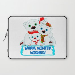 WARM WINTER WISHES Laptop Sleeve