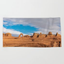 Delicate Arch 0414 - Arches National Park, Moab, Utah Beach Towel