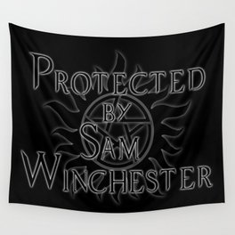 Protected by Sam Winchester Wall Tapestry