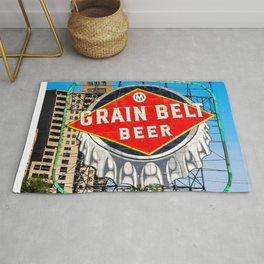 Grain Belt Beer Sign Rug
