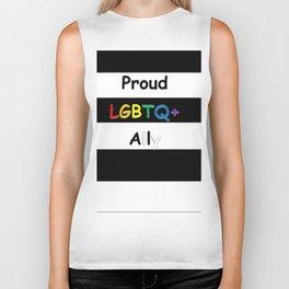 Proud LGBTQ+ Ally Biker Tank