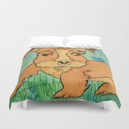Frank the Puppy Duvet Cover