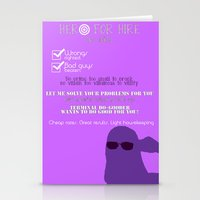 kate bishop Stationery Cards featuring Hero for Hire- Kate Bishop by Hawkingjay
