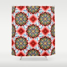 Chinoiserie Waves Shower Curtain