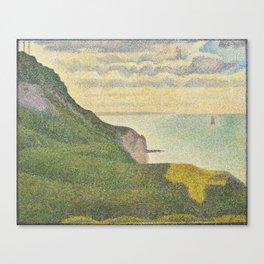 Georges Seurat Seascape at Port-en-Bessin, Normandy 1888 Painting Canvas Print