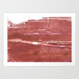 Red Brown nebulous wash drawing pattern Art Print