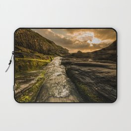 Trebarwith strand sunset Laptop Sleeve