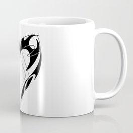 Shadowhunters rune silhouette and tribal heart - Parabatai - Malec Coffee Mug