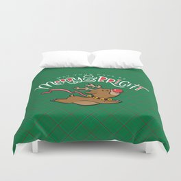 May Your Days be Merry & Bright Duvet Cover
