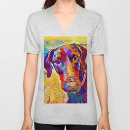 Doberman 4 Unisex V-Neck