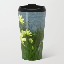 Lotus & Swallows Travel Mug