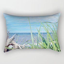 Through Grass and Driftwood Rectangular Pillow