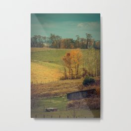 Slice of Blue Ridge Heaven -- Autumn Landscape Metal Print