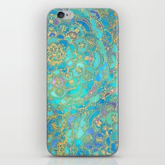 Sapphire & Jade Stained Glass Mandalas iPhone & iPod Skin
