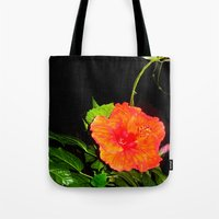 hibiscus Tote Bags featuring Hibiscus by Iris V.